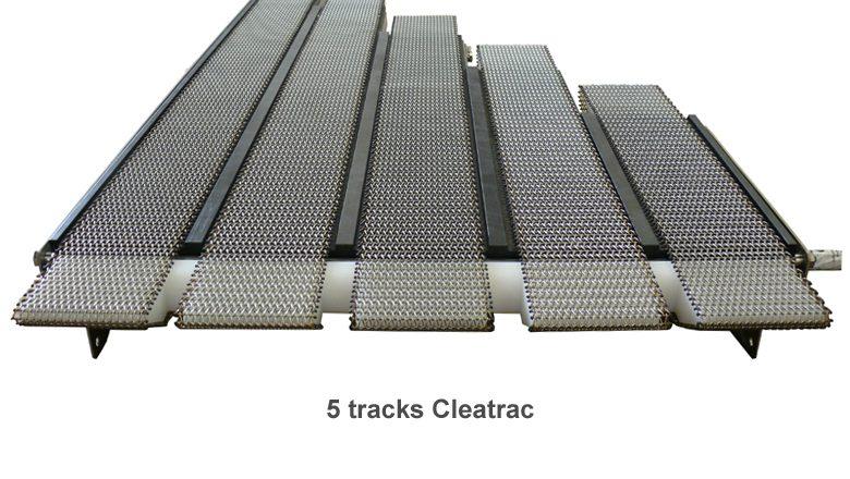 Cleatrac transfer conveyor