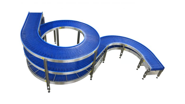 The hygienic spiral conveyor for the food industry and